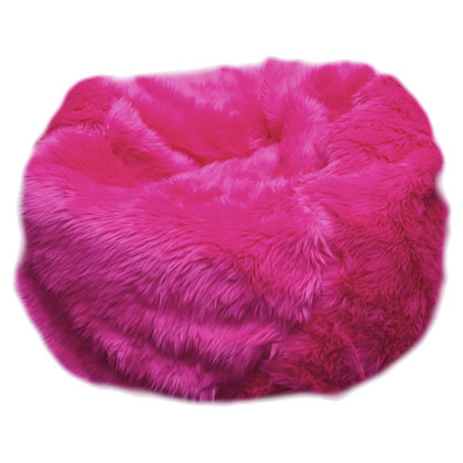 fuschia fuzzy fur beanbag What To Give My Kid For Christmas?