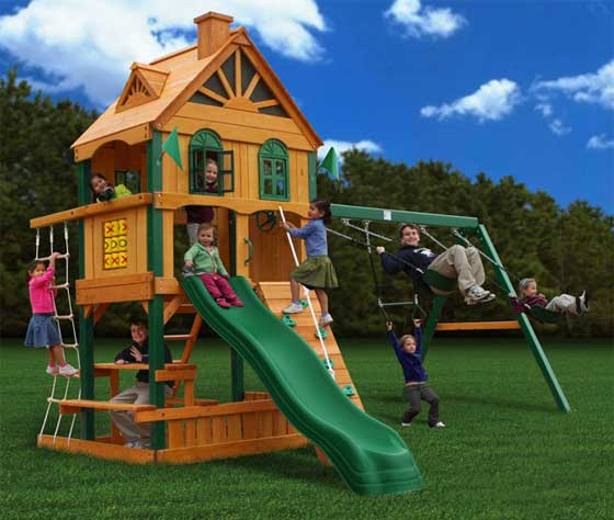 gorilla playset, outdoor playset for kids, backyard playset