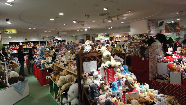 Hakuhinkan toy park tokyo. shopping for toys in tokyo