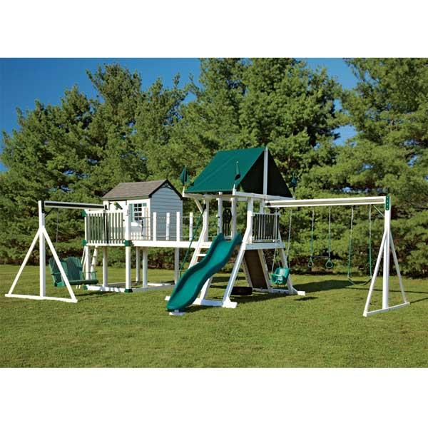 outside swing set, swing kingdom swing sets, outside playsets