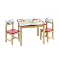 Guidecraft Farm Friends Table & Chair Set