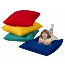 "27"" Square Floor Pillows 4 Piece Set"