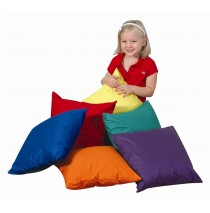 "17"" Soft Floor Pillows 6 Piece Set"
