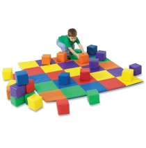 Joeys Matching Mat and Blocks Set in Primary by Childrens Factory