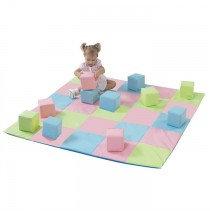 Patchwork Crawly Mat Pastel by Childrens Factory