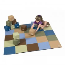 Cozy Woodland Patchwork Mat & Matching Block Set by Children's Factory CF705-390