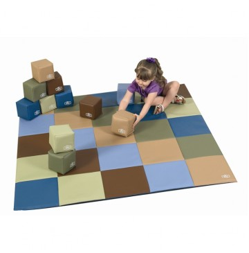 Cozy Woodland Patchwork Mat & Matching Block Set by Children's Factory CF705-390 - CF705-390-mat-and-block-set-360x365.jpg