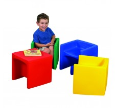 Set of 4 Molded Cube Chairs
