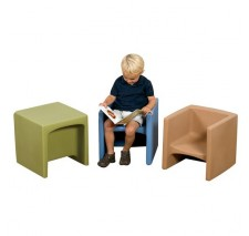 Cozy Woodland Chair Cube -  Set of 3