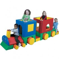 Children's Factory Little Train Soft Play Climber with Caboose