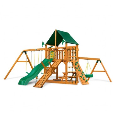 Frontier Swing Set w/ Amber Posts & Sunbrella Canvas Forest Green Canopy - 01-0004-AP-2-360x365.jpg