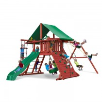 Sun Valley I Swing Set with Green Vinyl Tarp