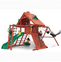 Sun Palace II Cedar Swing Set With Monkey Bars by Gorilla Playsets