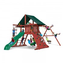 Sun Climber I Swing Set w/ Sunbrella Canvas Forest Green Canopy
