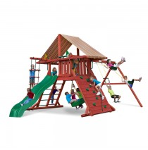 Sun Climber I Swing Set w/ Sunbrella Brannon Redwood Canvas
