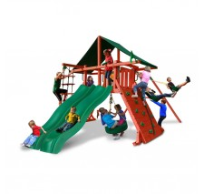 Sun Climber Extreme Swing Set with Sunbrella Green Canopy