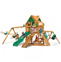 Frontier Treehouse Swing Set w/ Amber Posts