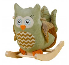 Owliver Green Owl Musical Rocker by Rockabye