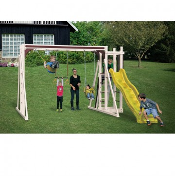 Swing Kingdom A1 Vinyl Swing Set - Almond Red & Yellow - A1-Almond-Red-Yellow-Swing-360x365.jpg