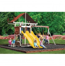 Swing Kingdom Deluxe Kastle Tower Vinyl Swing Set KC7 - 4 Color Options