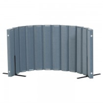 Quiet Divider® with Sound Sponge® 30″ x 6′ Wall – Slate Blue