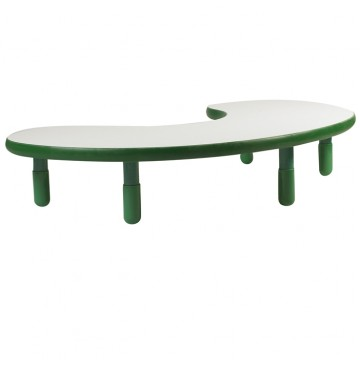 Angeles BaseLine Teacher / Kidney Table – Shamrock Green  with 14″ Legs & FREE SHIPPING - angels-kidney-table-green-360x365.jpg