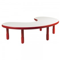 Angeles BaseLine Teacher / Kidney Table – Candy Apple Red with 16″ Legs & FREE SHIPPING