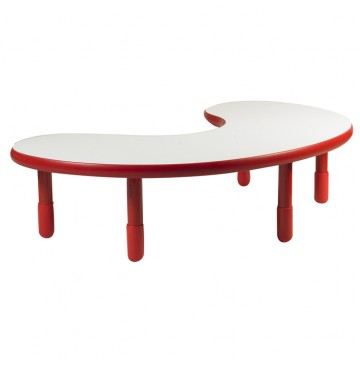 Angeles BaseLine Teacher / Kidney Table – Candy Apple Red with 16″ Legs & FREE SHIPPING - angels-kidney-table-red-360x365.jpg