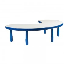 Angeles BaseLine Teacher / Kidney Table – Royal Blue with 12″ Legs & FREE SHIPPING