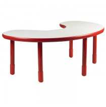 Angeles BaseLine Teacher / Kidney Table – Candy Apple Red with 20″ Legs & FREE SHIPPING