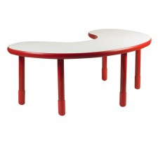 Angeles BaseLine Teacher / Kidney Table – Candy Apple Red with 24″ Legs & FREE SHIPPING