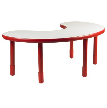 Angeles BaseLine Teacher / Kidney Table – Candy Apple Red with 24″ Legs & FREE SHIPPING - kidney-table-red-360x365.jpg