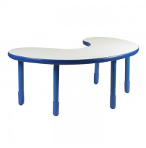 Angeles BaseLine Teacher / Kidney Table – Royal Blue with 18″ Legs & FREE SHIPPING