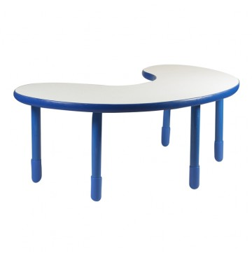 Angeles BaseLine Teacher / Kidney Table – Royal Blue with 22″ Legs & FREE SHIPPING  - kidney-table-royal-blue-360x365.jpg