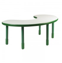 Angeles BaseLine Teacher / Kidney Table – Shamrock Green  with 24″ Legs & FREE SHIPPING