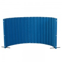 Angeles Quiet Divider® with Sound Sponge® 48″ x 10′ Wall – Blueberry