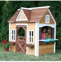 Classic Wooden Playhouse by Swing-N-Slide