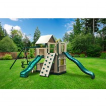 KidWise Congo Safari Lookout and Climber Swing Set