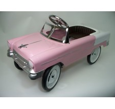 1955 Classic Pedal Car in Pink/White FREE SHIPPING