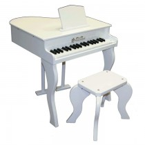 Schoenhut Elite Baby Grand Toy Piano 37 Key White