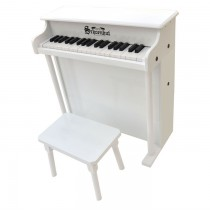 Schoenhut Traditional Deluxe Spinet Toy Piano 37 Key White