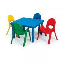 Angeles MyValue Set 4 Preschool Square - Choose Table Color