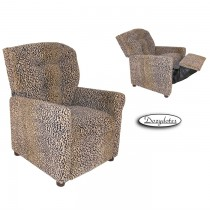 All Cheetah 4 Button Child Recliner Chair