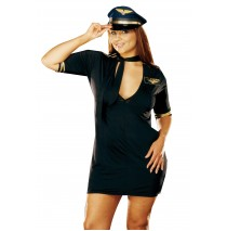 Mile High Captain Adult Plus Costume - 1X/2X