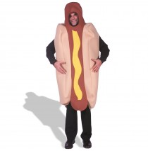 Hot Dog  Deluxe Adult Costume - L/XL
