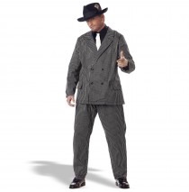 Gangster Adult Plus Costume - Plus