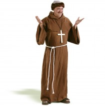 Medieval Monk  Adult Costume - Standard One-Size