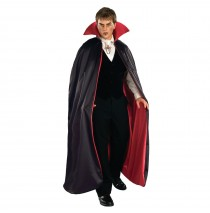 Reversible Deluxe Lined Vampire Cape (Red/Black) - One Size