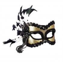 Black and Gold Carnival Mask   - One Size