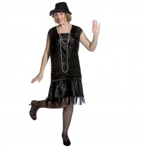 Gatsby Girl (Black) Adult Plus Costume - Plus (16-20)